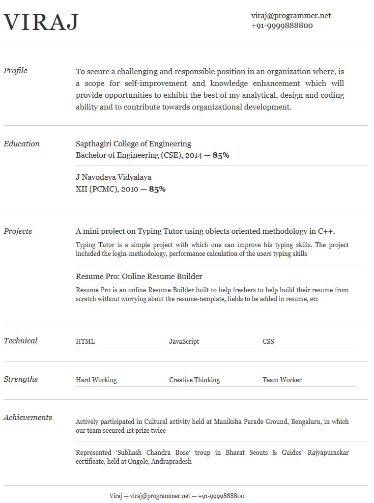Resume Template 10