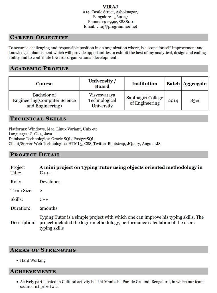 Resume Template 12